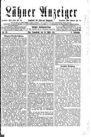 Lähner Anzeiger vom 25.03.1911