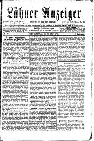 Lähner Anzeiger vom 30.03.1911