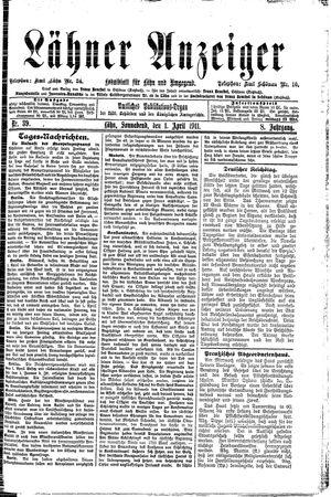 Lähner Anzeiger vom 01.04.1911
