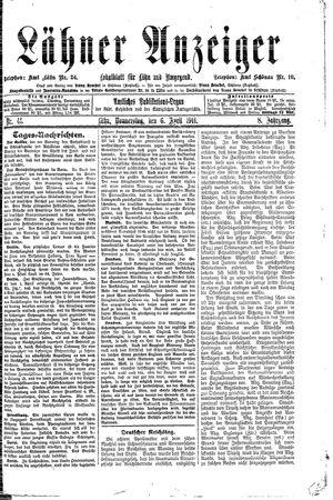 Lähner Anzeiger vom 06.04.1911
