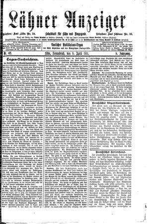 Lähner Anzeiger on Apr 8, 1911