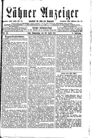 Lähner Anzeiger vom 20.04.1911