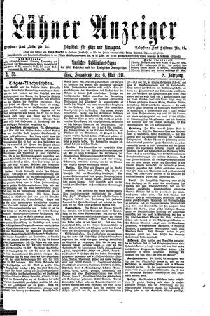 Lähner Anzeiger vom 06.05.1911