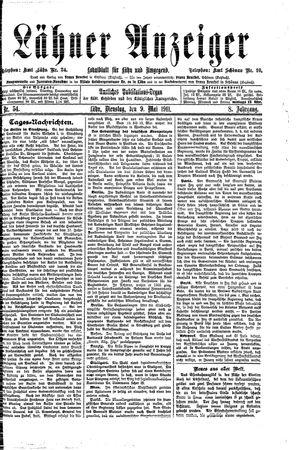 Lähner Anzeiger vom 09.05.1911