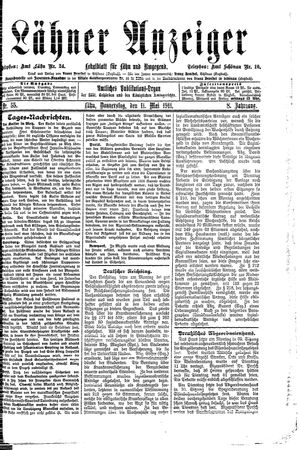 Lähner Anzeiger on May 11, 1911