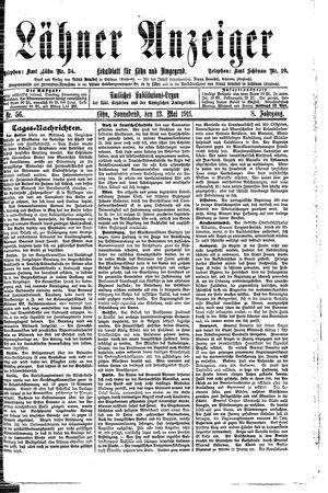 Lähner Anzeiger vom 13.05.1911