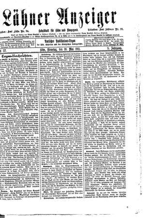 Lähner Anzeiger vom 16.05.1911