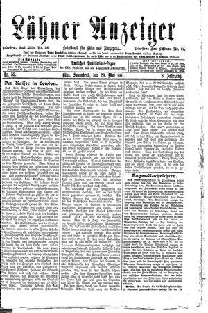 Lähner Anzeiger vom 20.05.1911