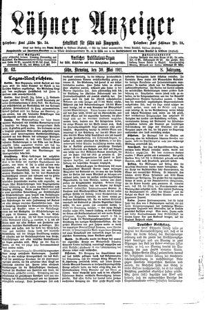 Lähner Anzeiger vom 30.05.1911
