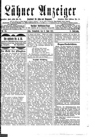 Lähner Anzeiger vom 03.06.1911