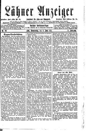Lähner Anzeiger vom 08.06.1911