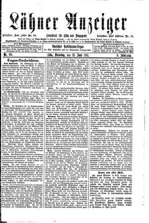 Lähner Anzeiger vom 13.06.1911
