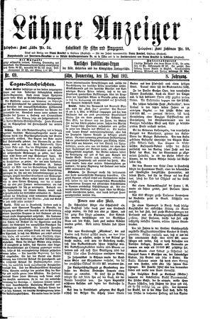 Lähner Anzeiger vom 15.06.1911