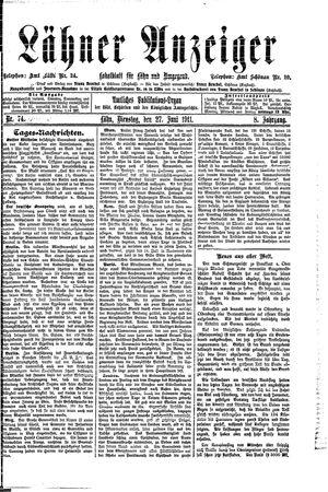 Lähner Anzeiger vom 27.06.1911