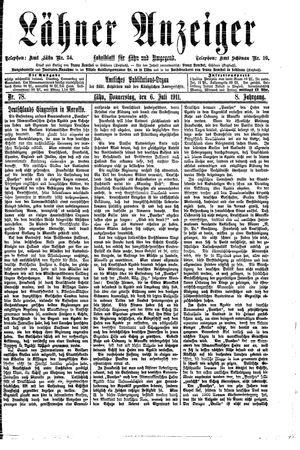 Lähner Anzeiger vom 06.07.1911
