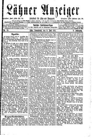 Lähner Anzeiger vom 08.07.1911