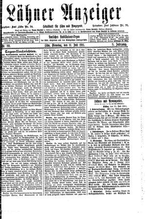 Lähner Anzeiger vom 11.07.1911