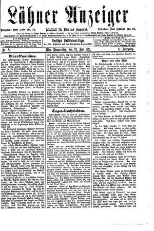 Lähner Anzeiger on Jul 13, 1911