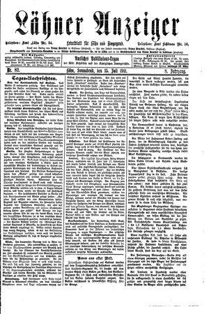 Lähner Anzeiger vom 15.07.1911