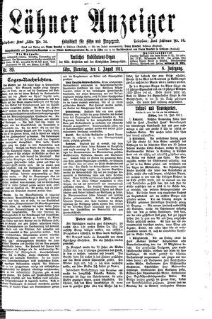 Lähner Anzeiger vom 01.08.1911