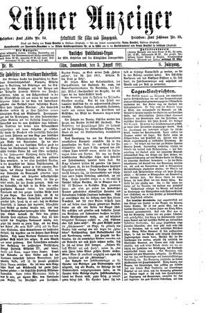Lähner Anzeiger vom 05.08.1911