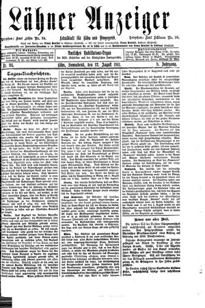 Lähner Anzeiger on Aug 12, 1911