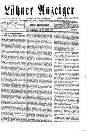 Lähner Anzeiger vom 19.08.1911
