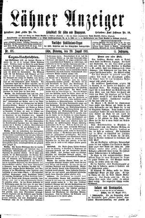 Lähner Anzeiger vom 29.08.1911