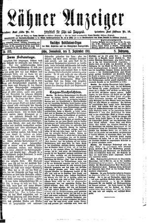 Lähner Anzeiger vom 02.09.1911