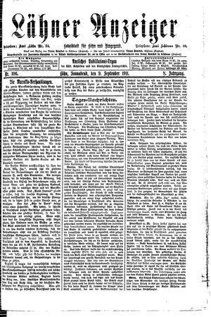 Lähner Anzeiger vom 09.09.1911