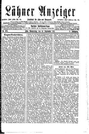 Lähner Anzeiger vom 14.09.1911
