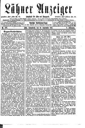 Lähner Anzeiger on Sep 16, 1911