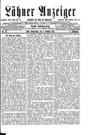 Lähner Anzeiger on Oct 5, 1911