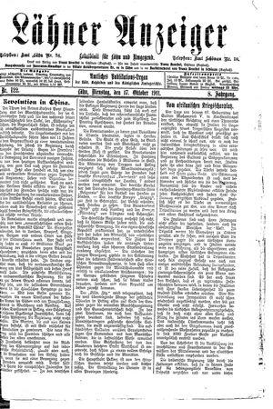 Lähner Anzeiger vom 17.10.1911