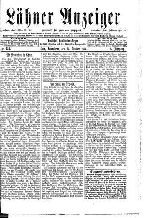 Lähner Anzeiger vom 21.10.1911