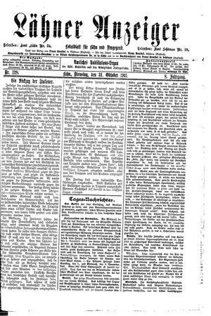Lähner Anzeiger vom 31.10.1911