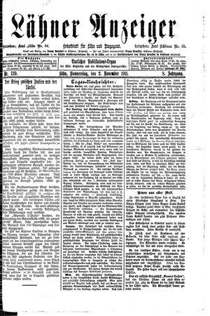 Lähner Anzeiger vom 02.11.1911