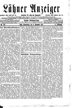 Lähner Anzeiger on Nov 9, 1911