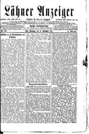 Lähner Anzeiger on Nov 14, 1911
