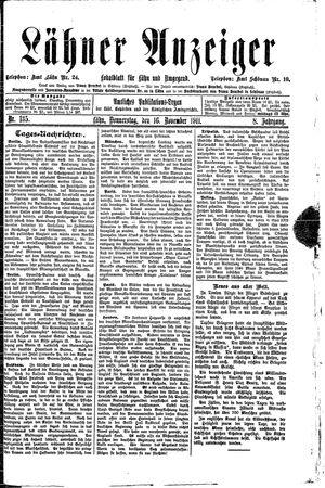 Lähner Anzeiger vom 16.11.1911