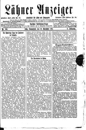 Lähner Anzeiger vom 18.11.1911