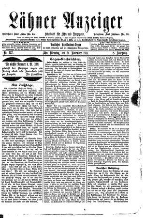 Lähner Anzeiger vom 21.11.1911