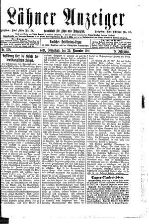 Lähner Anzeiger vom 25.11.1911