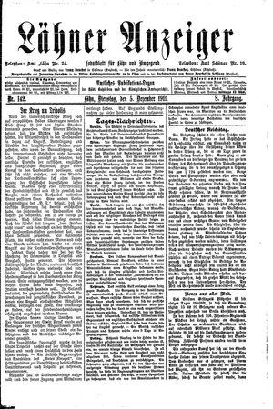 Lähner Anzeiger vom 05.12.1911