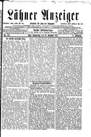 Lähner Anzeiger on Dec 14, 1911
