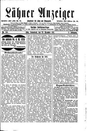 Lähner Anzeiger on Dec 23, 1911