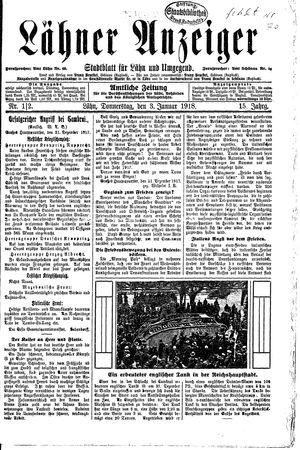 Lähner Anzeiger vom 03.01.1918