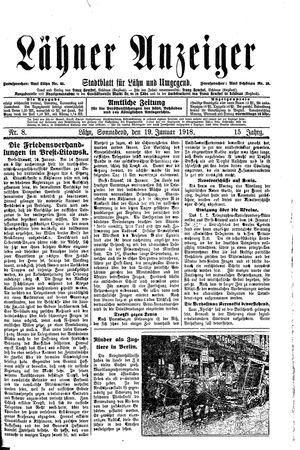 Lähner Anzeiger vom 19.01.1918