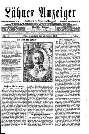 Lähner Anzeiger vom 26.01.1918