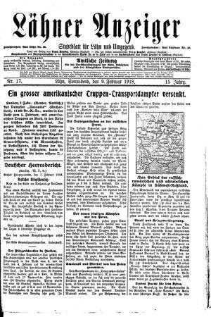 Lähner Anzeiger vom 09.02.1918
